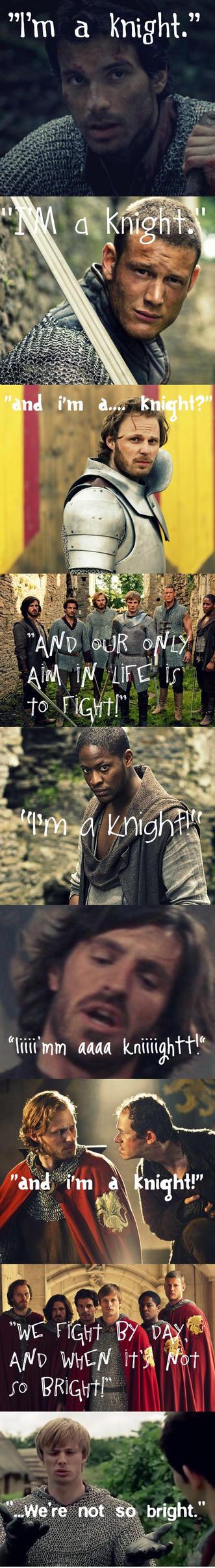 I'm a Knight - Merlin Style by MerlinLemon