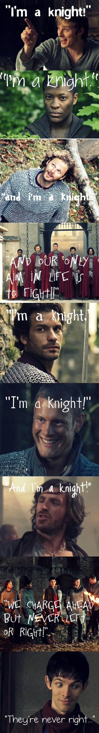 I'm a Knight - Merlin Style Threeeeee by MerlinLemon