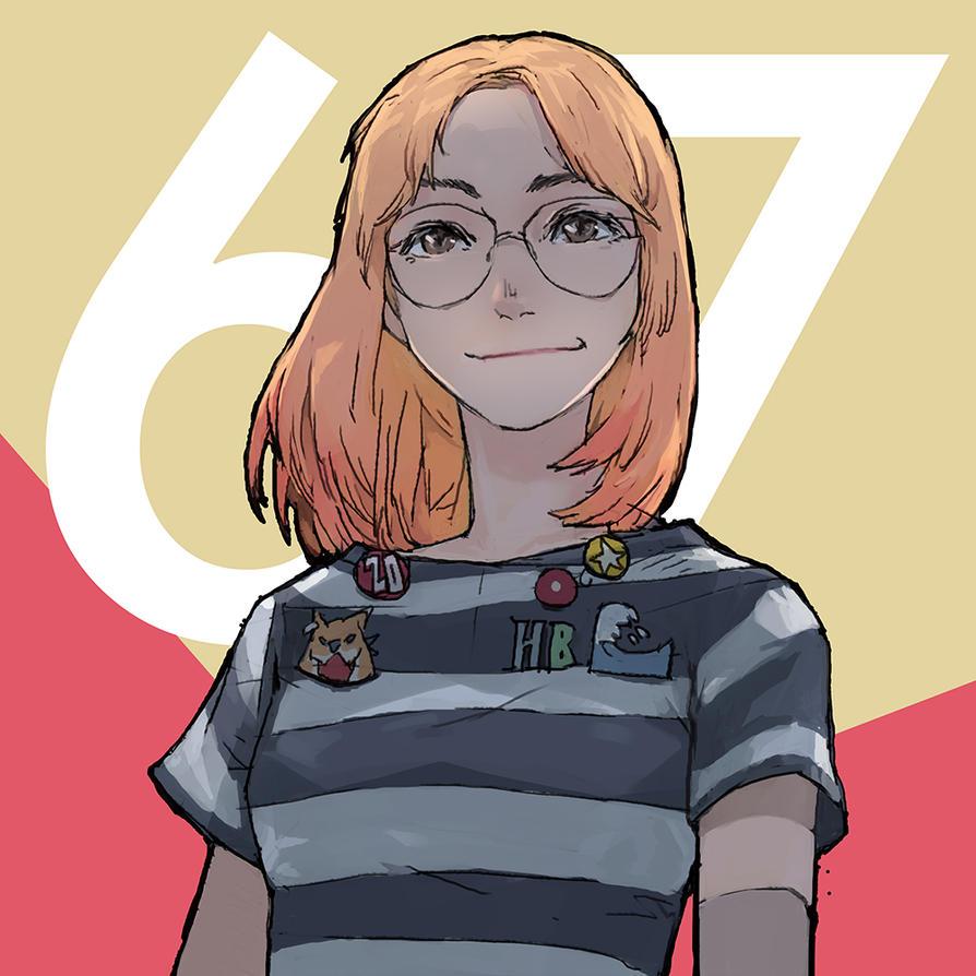 orange girl by hexaoyama