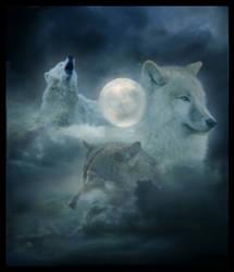 Lunar Wolves by ButterflyShards