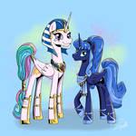 Mirror-Verse Princesses Celestia and Luna