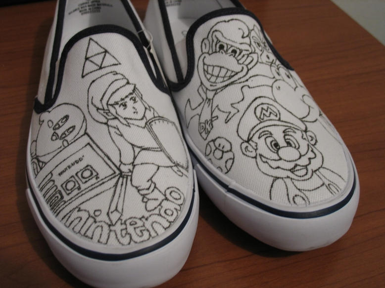 WIP Nintendo shoes by vcallanta