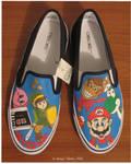 Nintendo shoes colored