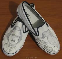 WIP Edgar Allan Poe shoes by vcallanta