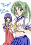 HIGURASHI:Mion and Rika