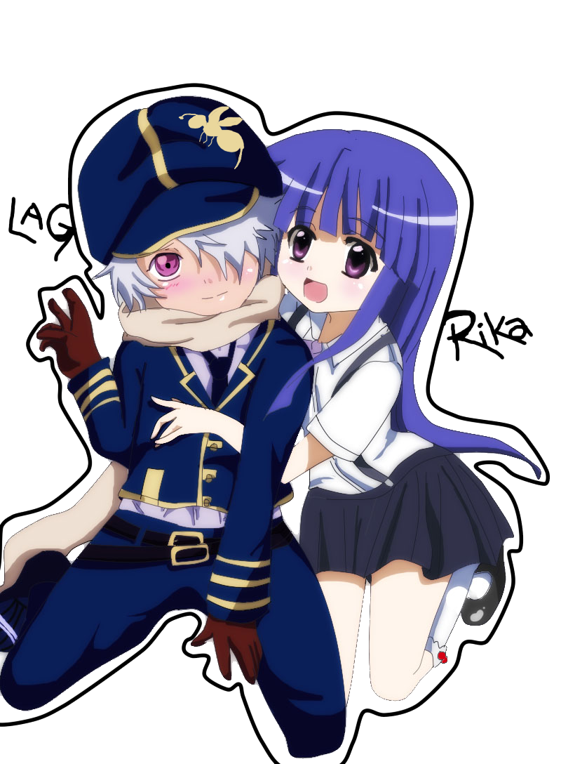 Rika and lag crossover by heyhey00