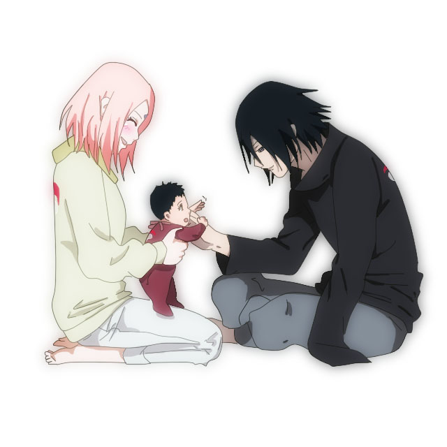 Sasusaku and sarada by heyhey00