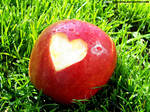Apple+heart+love