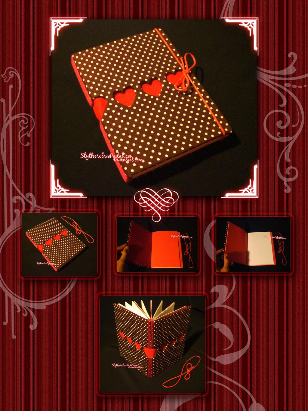 Handmade Notebook #3: Valentine Theme I