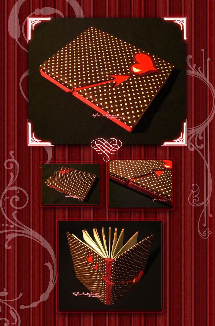 Handmade Notebook #4: Valentine Theme II by SlytherclawPadawan