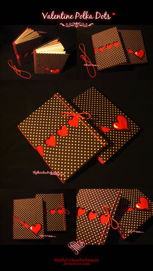 Handmade Notebook #3 and #4: Valentine Polka Dots