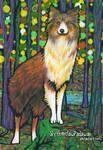 Dog and Autumn Sparkles