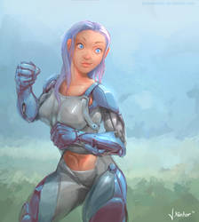 cyborg boxer by JanKaercher