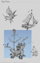 Space Pirates_Ship_Design by JanKaercher