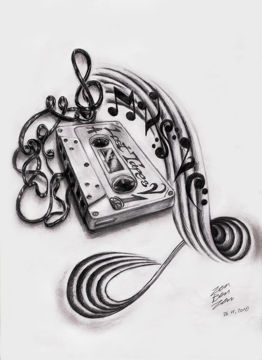 music cassette design by zenbenzen on deviantart. Black Bedroom Furniture Sets. Home Design Ideas