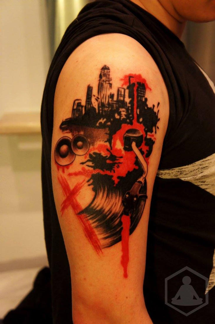 Dj Music Art Tattoo Designs