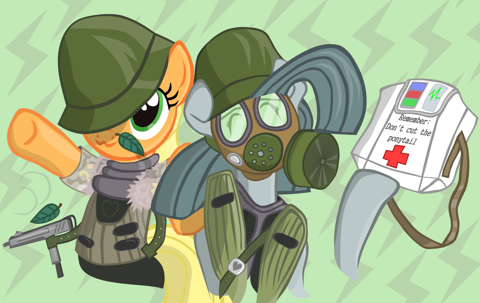 Half Life Opposing Force Applejack And Inkiepie By Lulilulilaj