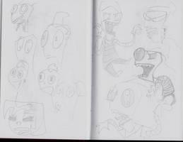 Zim Sketches by NinjaObsessed