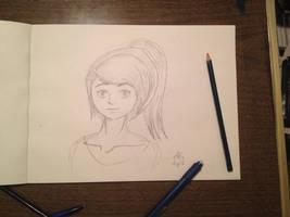 Anime Ponytail Girl by NinjaObsessed