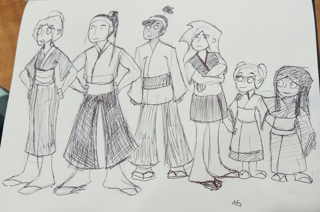 Sami's Dojo Cast by NinjaObsessed