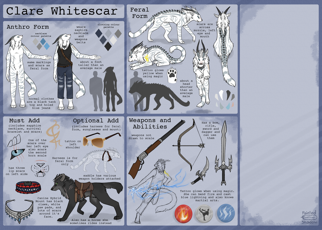 Clare Whitescar -Reference Sheet- by Alphaheart