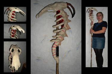 Bone Dragon Staff by JudithMayr