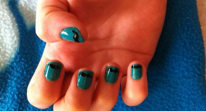 Sky blue nails with black moustache nail art by inginging on sky blue nails with black moustache nail art by inginging prinsesfo Choice Image
