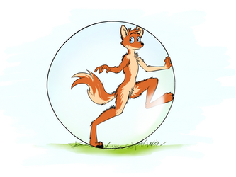 Fox in a ball by IntetX
