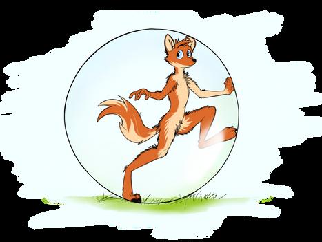 Fox in a ball