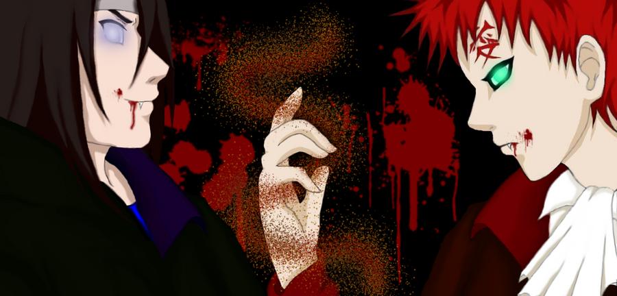 Gaara and Neji Vampires by IveWasHere