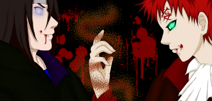 Gaara and Neji Vampires by IveWasHere on DeviantArt Gaara And Neji