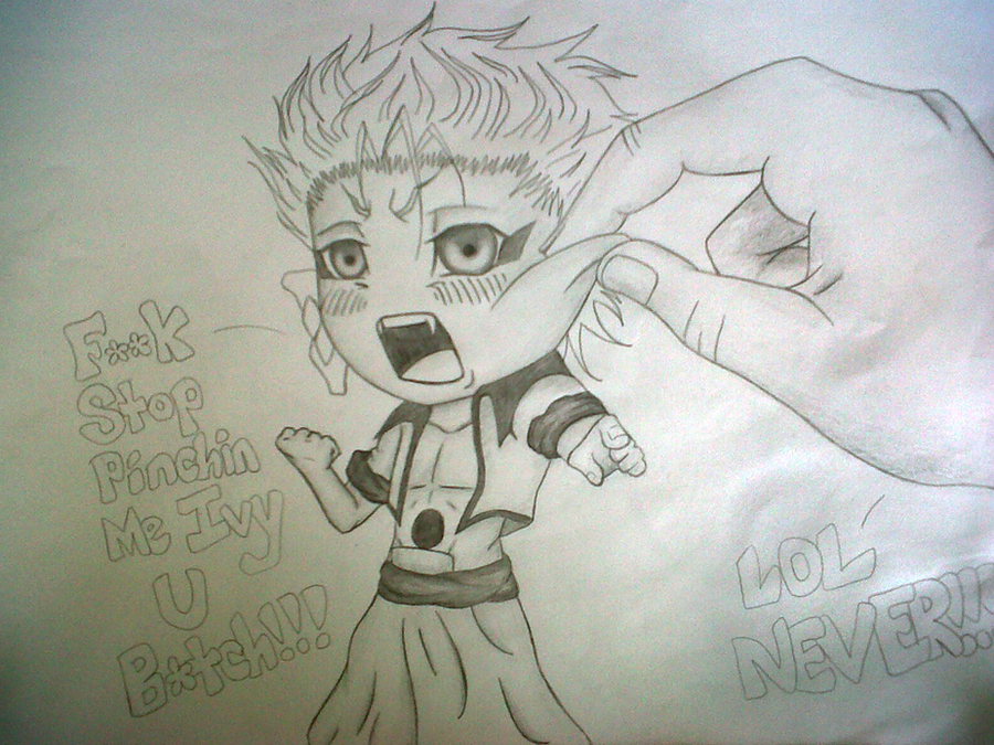 Grimmjow the angry chibi XD by IveWasHere on DeviantArt