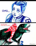 Erron Black the dinosaur rider
