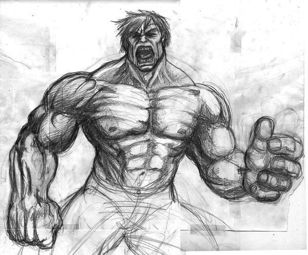 Hulk Para Colorear Facil: Imagenes De Graffitis Chidos A Lapiz