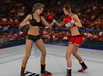 Liz Vs Anne Crossing Fists By Phoenixcreed