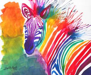 Rainbow Zebra by Doubtful-Della