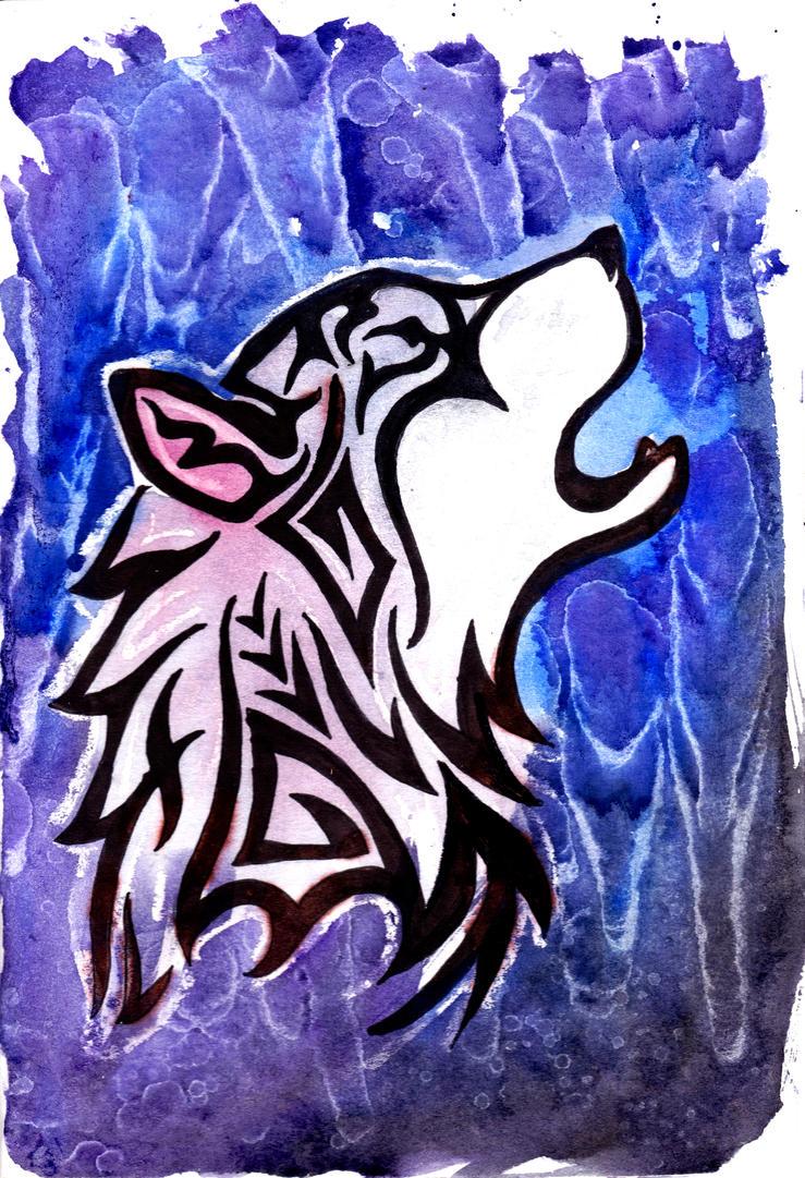Tribal Wolf by Doubtful-Della