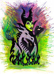 Maleficent Dragon Painting by Doubtful-Della