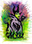 Maleficent Dragon Painting