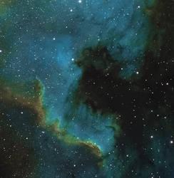 NGC 7000 the wall nebula SHO by redkojimax