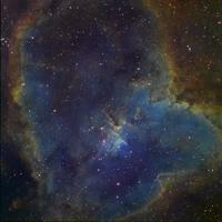 Heart Nebula IC 1805 Ha-SHO