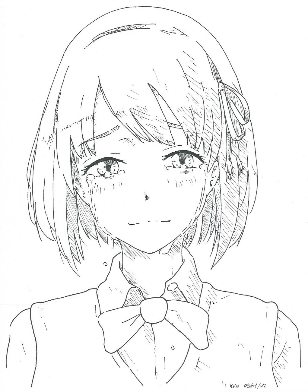 Line Drawing Artists Names : Mitsuha miyamizu by redkojimax on deviantart