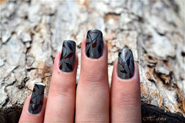 Autumn nail art design by Pocaita