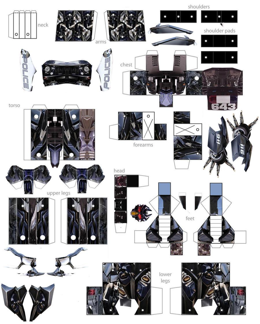 papercraft barricade by minibot-gears