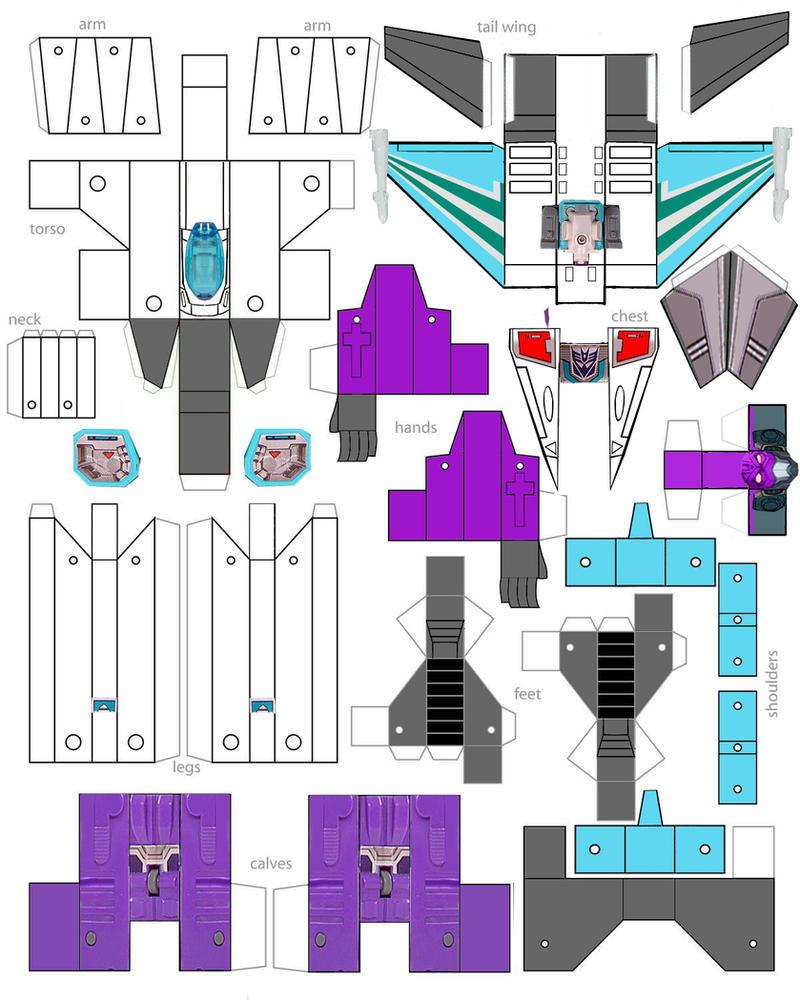 Как сделать из бумаги робота трансформера