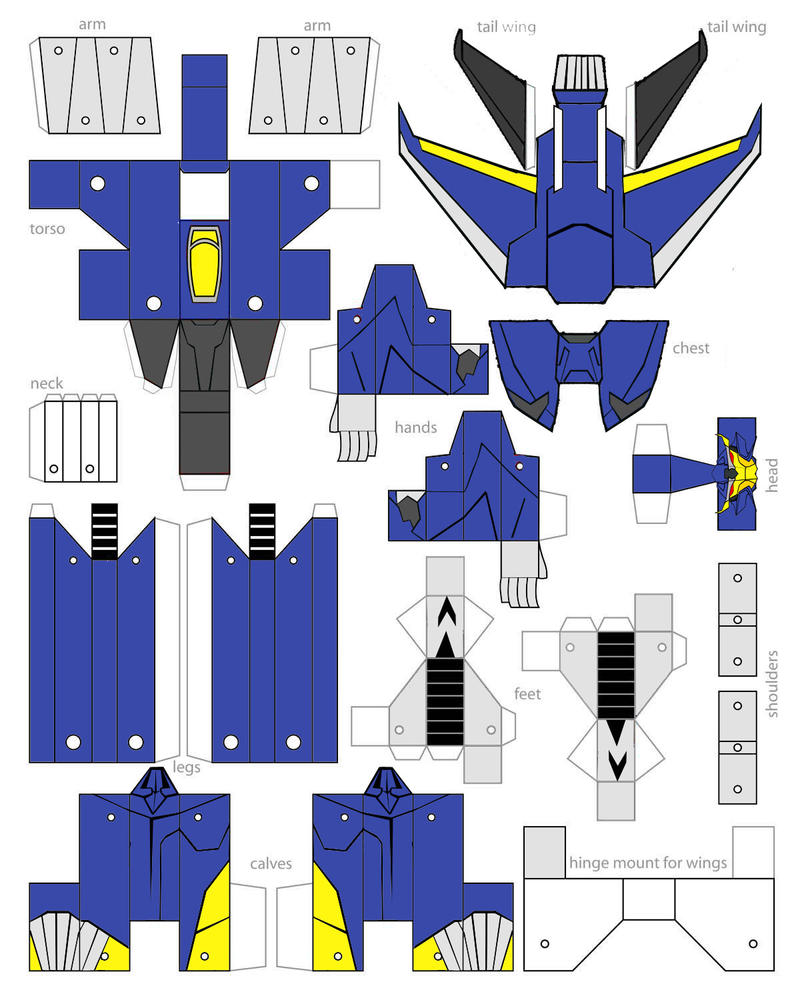 Papercraft Transformers Prime Dreadwing Minibot Gears