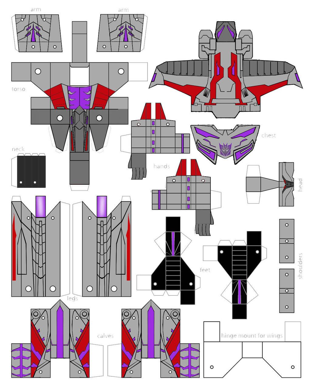 Как сделать из бумаги самолет трансформер