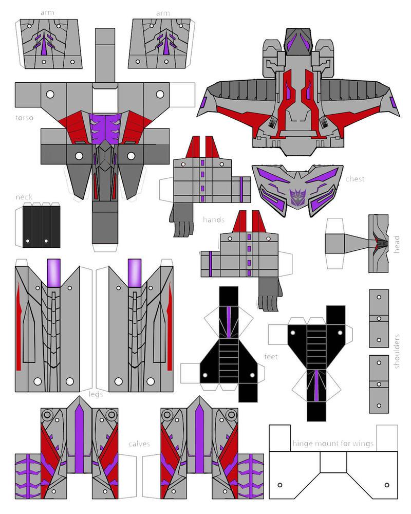 Роботы трансформеры из бумаги