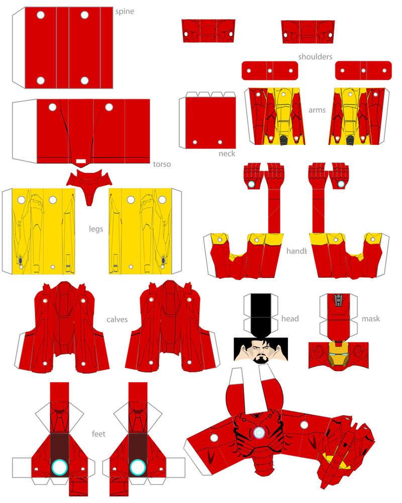 Papercraft Iron Man By Minibot-gears On DeviantArt