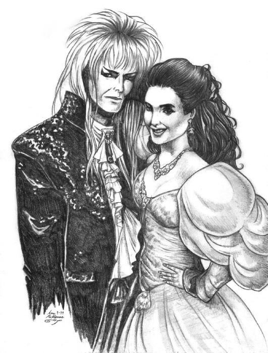 Jareth + Sarah Labyrinth Ball by EsheMilana